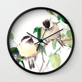 Chickadees Wall Clock