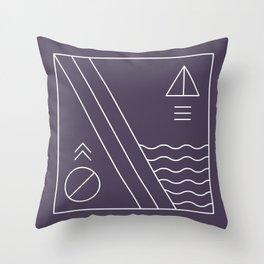 Native & modern geometric pattern 03 Throw Pillow