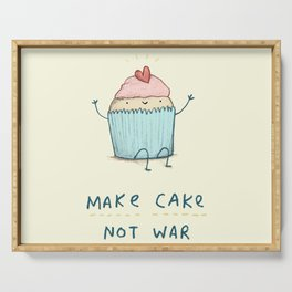 Make Cake Not War Serving Tray