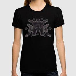 Black And White Inkblot Pattern Rorschach Test T-shirt