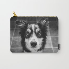 Tri-coloured border collie. Carry-All Pouch
