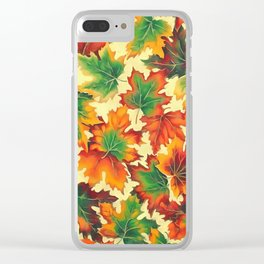 Autumn maple leaves I Clear iPhone Case