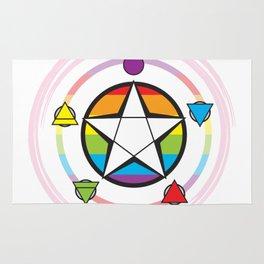 LGBT Elemental Pentagram Rug