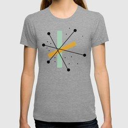 Retro Minimalist Mid Century Modern Pattern Design T-shirt