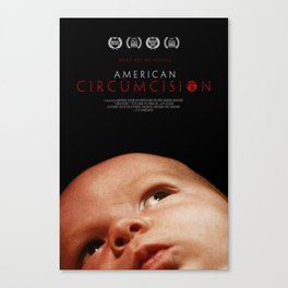 American Circumcision Movie Poster - Baby Canvas Print