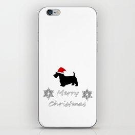 "Scottish Terrier ""Merry Christmas"" iPhone Skin"
