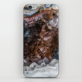 Tiny geode crystal cave iPhone Skin