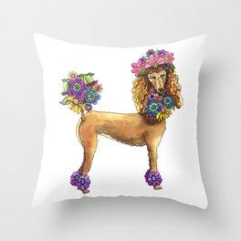 Poodle Dee Doo Throw Pillow