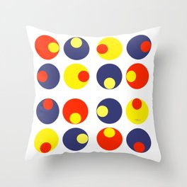 Electric Olives Throw Pillow