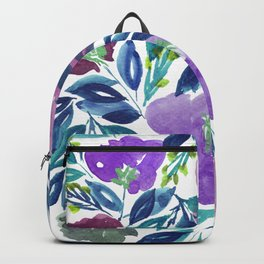 hand painted flowers_1b Backpack
