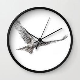 White Red Kite Wall Clock