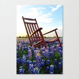Bluebonnet Rocking Chair Canvas Print