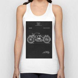Motorcycle Blueprint 1919 Unisex Tank Top