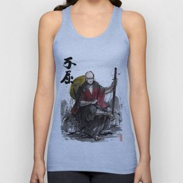 Samurai Captain Picard Parody/Crossover with Japanese Calligraphy Unisex Tank Top