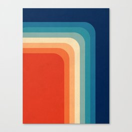 Retro 70s Color Palette III Canvas Print
