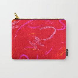 Red Textured Background with Squiggles and Swirls Carry-All Pouch