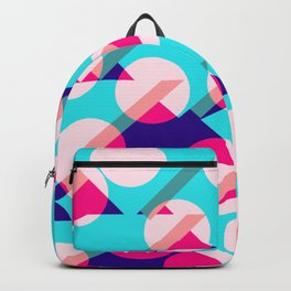 Dots and Triangles Abstract Pattern Design Art Backpack