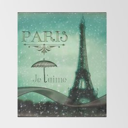 Paris... Je t'aime Throw Blanket