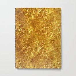 Gold Flake Metal Print