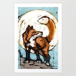 The Fox (Sun) Art Print