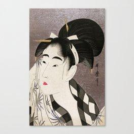 Kitagawa Utamaro, Japanese Woodblock Print Canvas Print