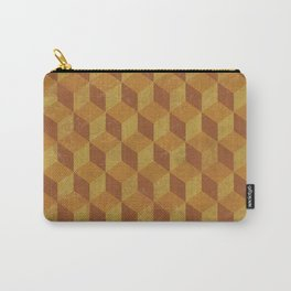 Golden Cube Carry-All Pouch