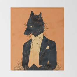 Lord Among Wolves Throw Blanket