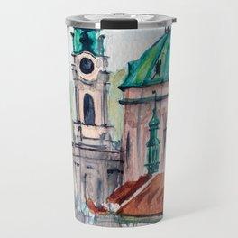 Prague Czech Republic watercolor Travel Mug