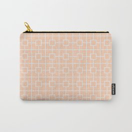 Apricot Orange Square Chain Pattern Design Carry-All Pouch