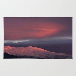 Lenticular clouds over Caballo mountain. Sierra Nevada National Park Rug