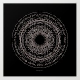 Medallion Mandala Art Print
