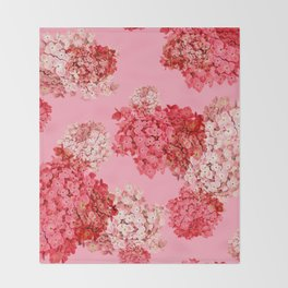 hydrangea (doubled) Throw Blanket