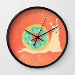 Donut snail Wall Clock