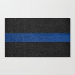 Black and blue vintage faux leather Canvas Print