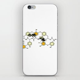 Bees making honey on macromolecular structure as a bee house  iPhone Skin