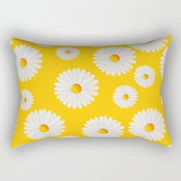 Yellow Daisy Repeat Rectangular Pillow