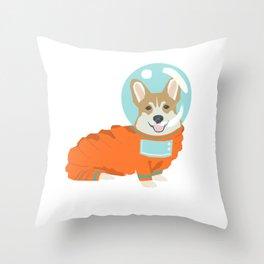 Spacesuit Corgi - cute corgi in space, cosmic corgi Throw Pillow