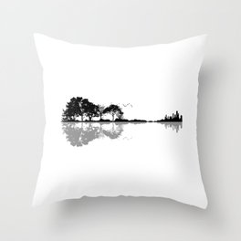 Nature Guitar Throw Pillow