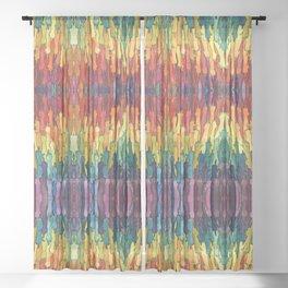 rainbow power Sheer Curtain