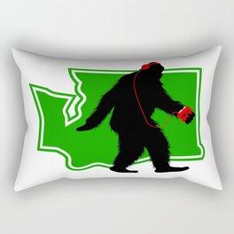 Bigfoot walk in Washington Rectangular Pillow