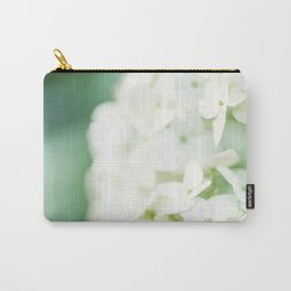 Softly Endearing - Hydrangia in Green Carry-All Pouch
