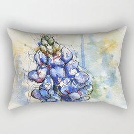 Spring Watercolor Texas Bluebonnet Flowers Rectangular Pillow
