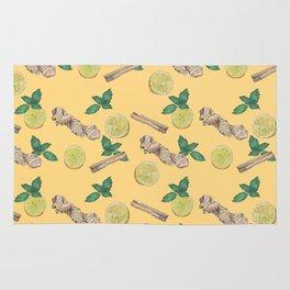 ginger lemon pattern Rug