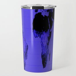 World Map: Gall Peters Indigo Purple Travel Mug