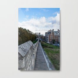 A walk along the wall Metal Print