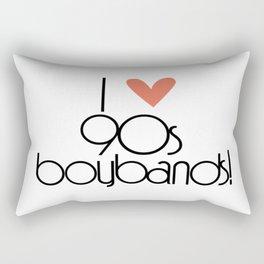 I Love 90s Boy Bands Rectangular Pillow