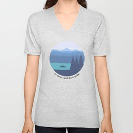 It's always a good day to paddle Unisex V-Neck