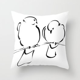Bird Couple Throw Pillow