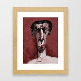 Red anger Framed Art Print