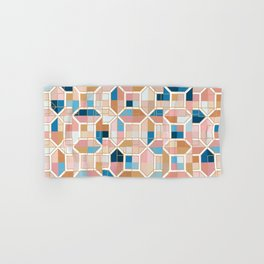 Mediterranean Geometric Shapes I. Hand & Bath Towel